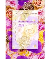 Weekblok 2018 boeket rozen