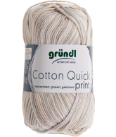 Cotton quick print zand-roze multicolor 50 gram