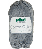Cotton quick uni zilvergrijs 50 gram