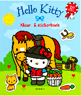 Hello Kitty kleur en stickerboek