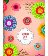 Luxe agenda 2018 Flowers/cirkels