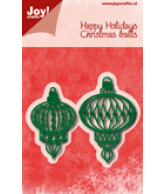 JOY snijmal happy holidays kerstballen november