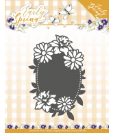 Early spring snijmal spring flowers oval label