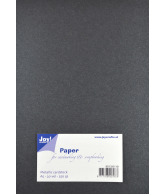 Joy Papierset Metallic donker grijs (a5 20vel)