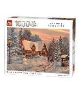 Puzzel Old Christmas Cottage (1000 stukjes)