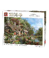 Puzzel Riverside in Bloom (1000 stukjes)