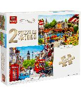 2 in 1 Puzzel Amsterdam en Londen (1000 stukjes)