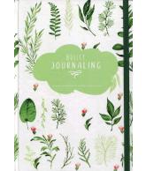 Bullet journaling green leaves