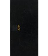 Zakagenda pockettimer liggend 2019 zwart nr 300