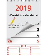 Weekblok kalender 2019 XL