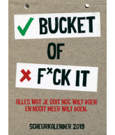 Scheurkalender 2019: Bucket of f*ck it