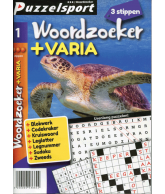 Puzzelpocket 50/50 woordzoeker + varia 3 stippen nr 1