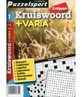 Puzzelpocket 50/50 Kruiswoord + Varia 2 Stippen nr. 1