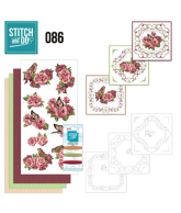 Stitch and Do 86 volgels vlinder en rozen