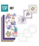 Stitch and Do 87 vlinder en paarse bloemen