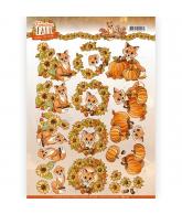 YC Fabulous Fall knipvel 2st fabulous animals en foxes