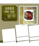 Layered frame cards set 01 voor 3 kaarten