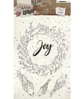 Winter days stempel A6 nr 312 krans Joy oktober 2018