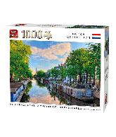 Puzzle prinsengracht canal, Amsterdam 1000 pcs