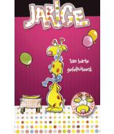 Kaart Hartelijk Gefeliciteerd Giraffe Luxe wenskaart met 3D effect