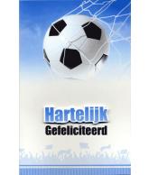 Kaart Hartelijk Gefeliciteerd Voetbal Luxe 3D wenskaart