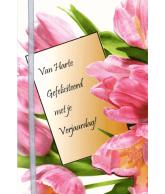 Kaart Van Harte Gefeliciteerd met je Verjaardag!, luxe uitgestanste kaart met lint