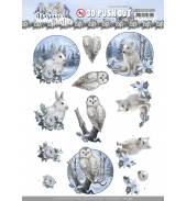 Awesome winter 3D push out winter animalsvan Amy Design