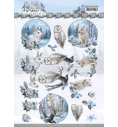 Awesome winter 3D knipvelset winter animals/winter flowers van Amy Design