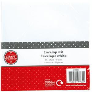 Envelop vierkant Wit 10 stuks