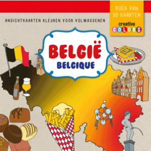 Belgie Ansichtkaarten kleuren voor volwassenen