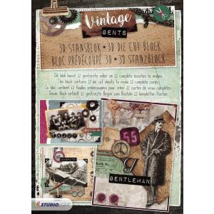 A4 Stansblok 46 Vintage Gents