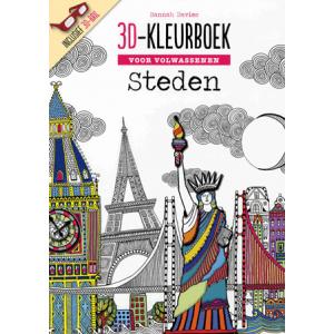 3D kleurboek voor volwassenen - steden