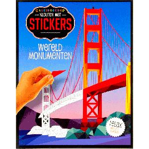 Kleuren met stickers wereldmonumenten