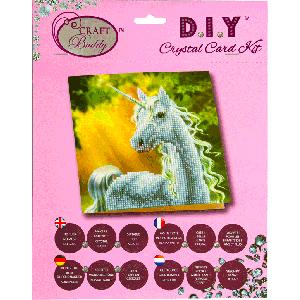 Crystal Card kit A2 sunshine unicorn 18x18cm