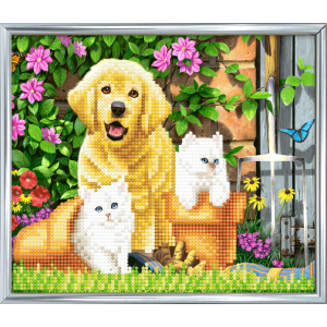 Silver photo frame kit crystal art westie