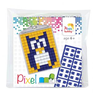 Pixelhobby medaillon sleutelhanger startset uil
