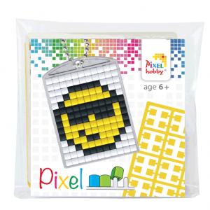 Pixelhobby medaillon sleutelhanger startset smiley
