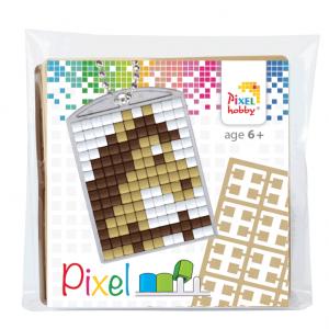 Pixelhobby medaillon sleutelhanger startset paard