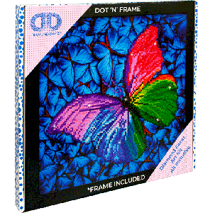 Diamond Dotz Flutter by pink with frame
