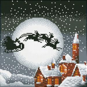 Diamond Dotz santa sleigh 30,5x30,5cm