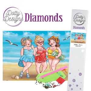 Dotty Designs Diamonds Bubbly Girls Beach 29,7X42cm