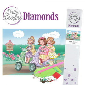 Dotty Designs Diamonds Bubbly Girls Scooter 29,7x42cm