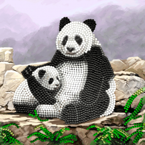 Crystal Card kit A44 panda 18x18cm