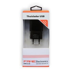 Thuislader USB 2.1A, Fame Electronics