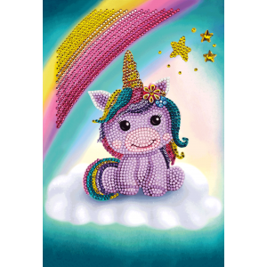 Crystal art specials notebook unicorn smile