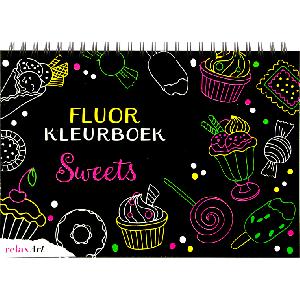 Fluor kleurboek Sweets