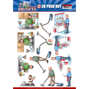 Yvonne Creations 3D uitdrukvel big cleaning serie Big Guys Workers