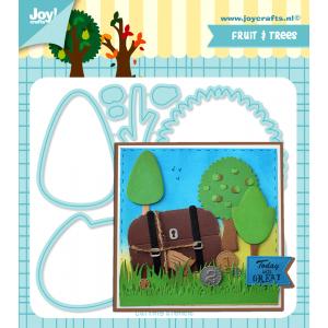 Joy Crafts stansmal bomen ontworpen door Jocelijne serie mei 20