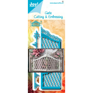 Joy Crafts stans-debos-embossingmal van een poortdeur serie mei 20