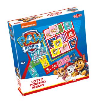 Paw patrol 3 in 1 spel: memo, lotto, domino
